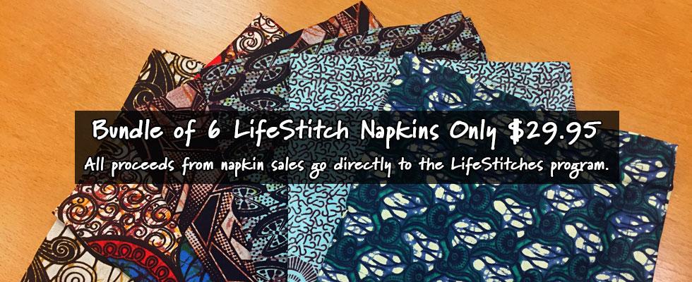 LifeStitch Napkins - Bundle of 6