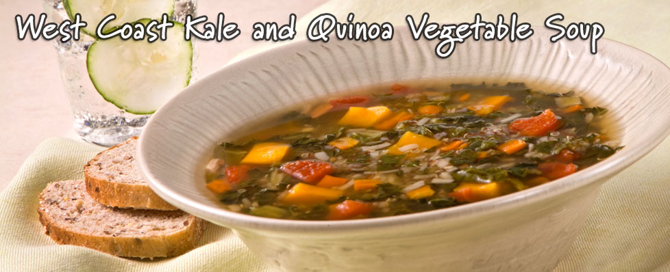 West Coast Kale and Quinoa Vegetable Soup