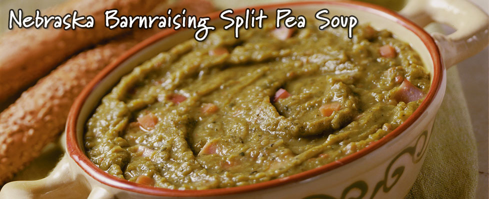Nebraska Barnraising Split Pea Soup