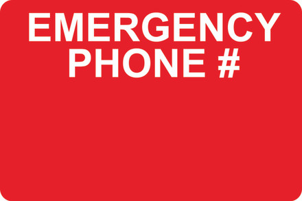 AS53 Aluminum Sign - EMERGENCY PHONE. #
