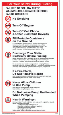 D-702 Health Warning & Safety Decal - FOR YOUR SAFETY...