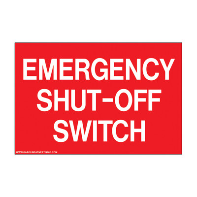 D-801 Emergency & Fire Prevention Decal - EMERGENCY SHUT-OFF...