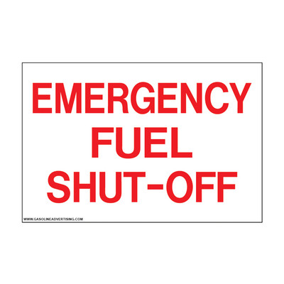 D-803 Emergency & Fire Prevention Decal - EMERGENCY FUEL...