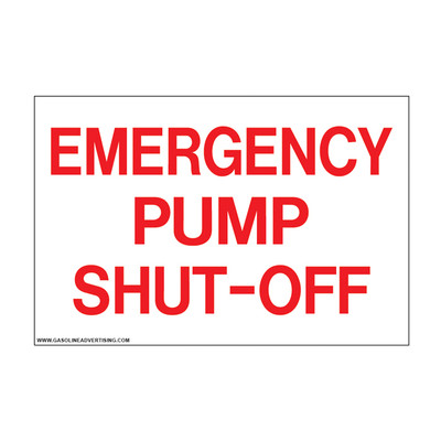 D-804 Emergency & Fire Prevention Decal - EMERGENCY PUMP...
