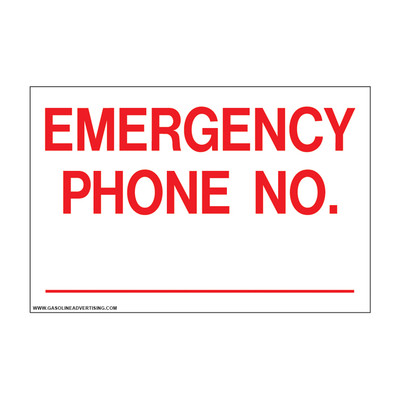 D-805 Emergency & Fire Prevention Decal - EMERGENCY PHONE NO