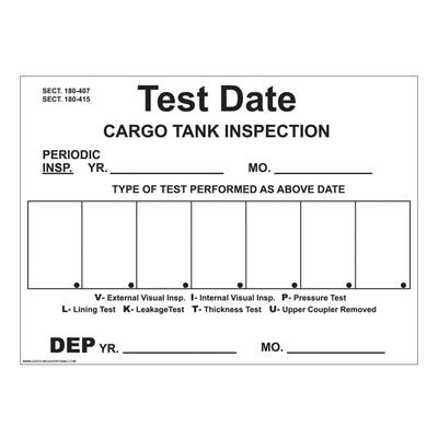 D-810 Truck & Tanker Decal - CARGO TANK...