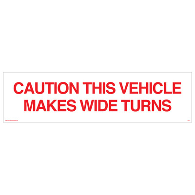 D-825 Truck & Tanker Decal - CAUTION...