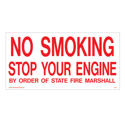 D-945 Fueling Instruction Decal - NO SMOKING...