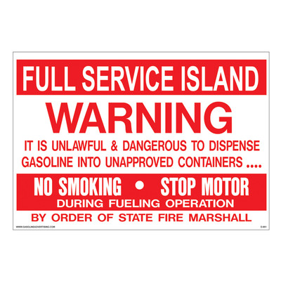 D-951 Fueling Instruction Decal - FULL SERVICE...