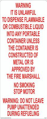 AS-59 Aluminium Sign - Warning Unlawful