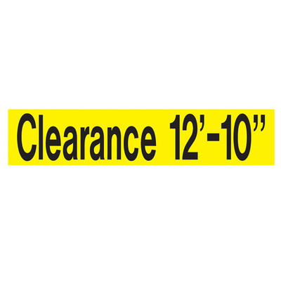 AS-60 Aluminum Sign - CLEARANCE __ Ft.__ In.