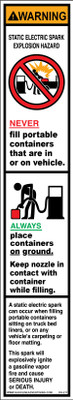 DG-211 Fueling Instructions Graphics - WARNING...
