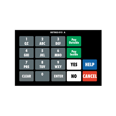 DG2-KPO1-GENR Vista Wide Keypad Overlay Generic/Custom