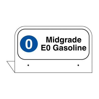 """FPI-02 Fill Pipe ID Tag """"Midgrade E0 Gasoline"""""""