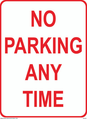 ATS-02 Sign - No Parking Any Time