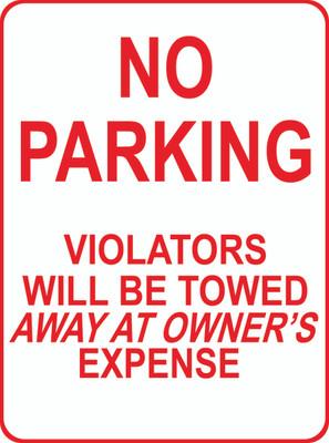 ATS-03 Sign - No Parking Violator