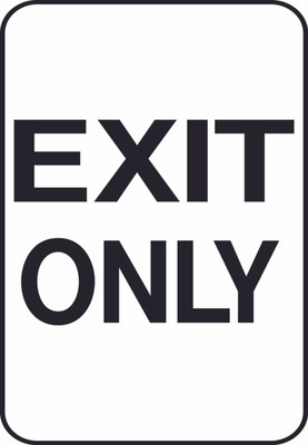 ATS-10 Sign - Exit Only