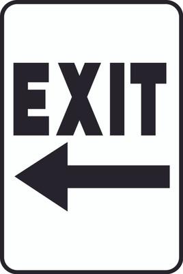 ATS-14 Sign - EXIT Left Arrow