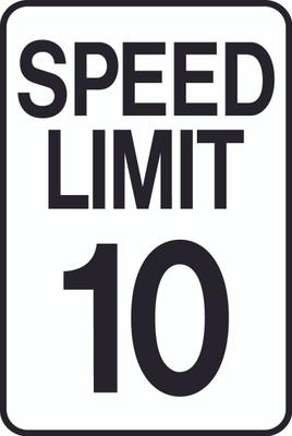 ATS-18 Sign-Speed Limit 10