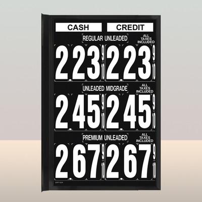 """MV340S Standard 1.5"""" X 4.5"""" Numbers"""