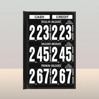 """MV370S Standard 1.5"""" X 4.5"""" Numbers"""