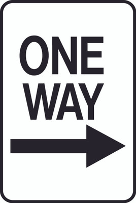 ATS-21 Sign-One Way Right Arrow