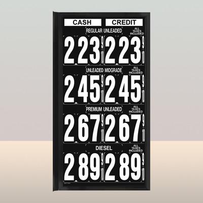 """MV440S Standard 1.5"""" X 4.5"""" Numbers"""
