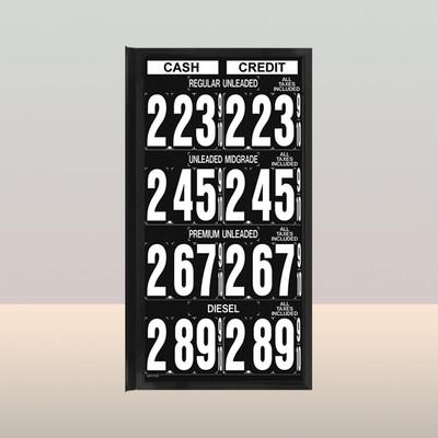 """MV470S Standard 1.5"""" X 4.5"""" Numbers"""