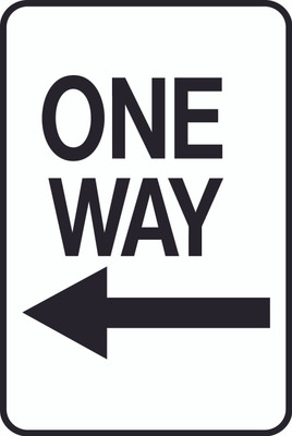 ATS-22 Sign-One Way Left Arrow