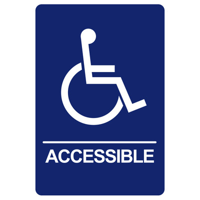 BRS-01 Restroom Sign - ACCESSIBLE