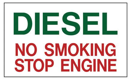 PTI-6 Pump Topper Inserts DIESEL NO SMOKING..