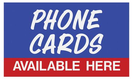 PTI-8 Pump Topper Inserts PHONE CARD..