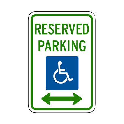 "RTS-01 Parking Signs - ""Reserved Parking""  Reflective"