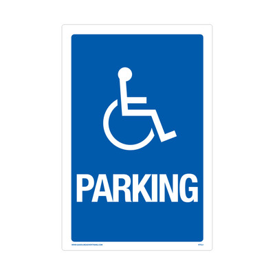"RTS-04 Parking Signs - ""Handicap Parking""  Reflective"