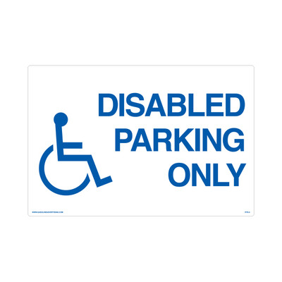 "RTS-05 Parking Signs - ""Disabled Parking""  Reflective"
