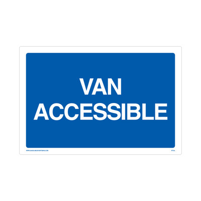"RTS-06 Parking Signs - ""Van Accessible""  Reflective"