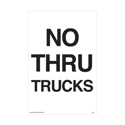 "RTS-09 Traffic Signs  ""No Thru Trucks""  Reflective"