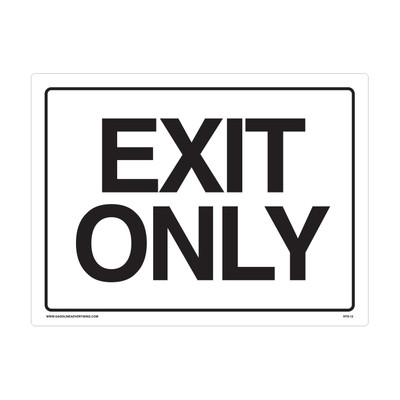 "RTS-12 Traffic Signs  ""Exit Only""  Reflective"