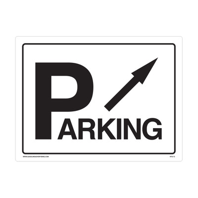"RTS-13 Parking Signs  ""Parking - Arrow""  Reflective"