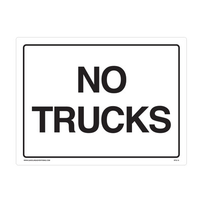 "RTS-15 Parking Signs  ""No Trucks - ""  Reflective"
