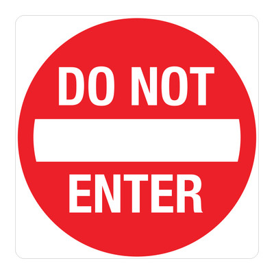 "RTS-25 Traffic Signs - ""Do Not Enter""  Reflective"
