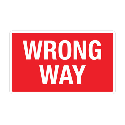 "RTS-27 Traffic Signs - ""Wrong Way""  Reflective"