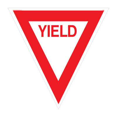 "RTS-28 Traffic Signs - ""Yield""  Reflective"