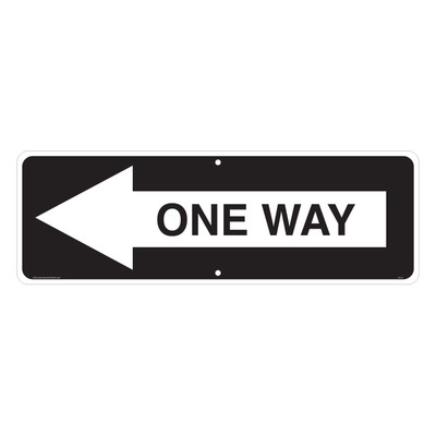 "RTS-31 Traffic Signs - ""One Way Arrow L""  Reflective"