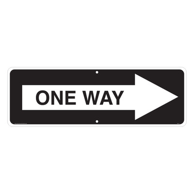 """RTS-33 Traffic Signs - """"One Way Arrow R""""  Reflective"""