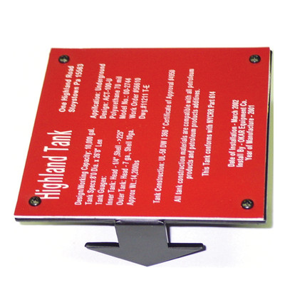 UST5-GBES Ground Brkt+ Engraved Sign