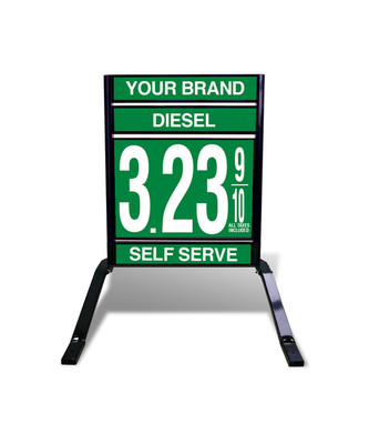 "1 GRADE VXS110 SERIES FUEL PRICE SIGN WITH 22"" FLIP DIGITS VERSA DISPLAY - FREESTANDING - CURB STAND - MONUMENT STYLE"