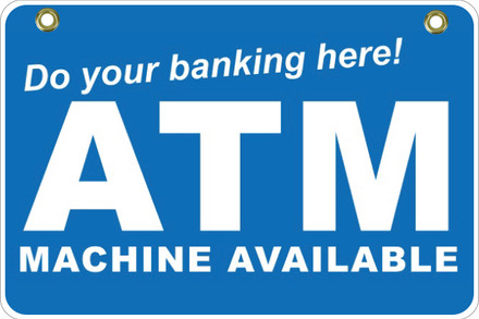 BS48 2 Way Sign - Do your banking..
