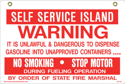 BS50 2 Way Sign - Self Service...
