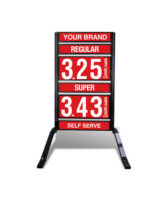 "2 GRADES VXS210 SERIES FUEL PRICE SIGN WITH 12"" FLIP DIGITS VERSA DISPLAY - FREESTANDING - CURB STAND - MONUMENT STYLE"